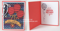 Video on my blog with 40 cards that use the Balloon Adventures Bundle. #stampinup #barbstamps #balloonadventuresbundle #diyballooncards #barbmullikin