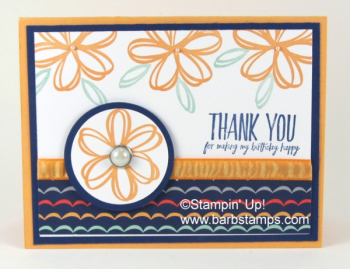 Carried Away Designer Series Paper coordinatees with the Lift Me Up Bundle.  Earn this DSP Free with a $50 order by March 31st, 217.  Check out more great projects at www.barbstamps.com sunshine sayings stamp set