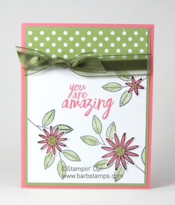 video on how to dye ribbon on my blog at www.barbstamps.com #barbstamps