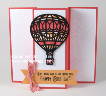 This is one of the cards my Be a Big Shot At Home participants received in one of their monthly packets, email me at barb@barbstamps.com to join the next round. #stampinup #upandawaythinlits