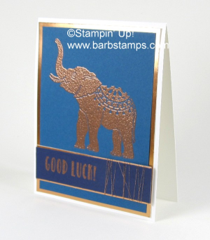 The Lucky Elephant single stamp is on the Retiring List. Purchase yours are www.shoppingwithbarb.com #barbstamps