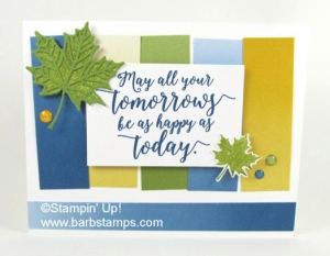 FREE 14 project tutorial using the Colorful Seasons Bundle, get the details on my blog www.barbstamps.com  this card uses the Color Theory DSP Stack and the Bundle, love how it turned out!! www.shoppingwithbarb.com