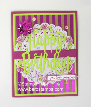 More cards with the Happy Birthday Gorgeous Bundle www.barbstamps.com #stampiup #barbstamps
