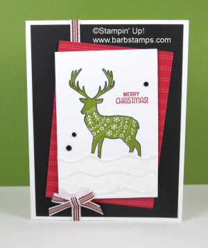 Video on the blog showing you the Ruffled Glitter technique.  The Merry Patterns stamp set is available with a $300 order or party thorugh Ocrtober 31st.  www.barbstamps.com #merrypatterns #barbstamps