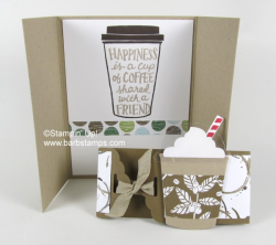 Video on my blog showing you 35 cards made with the Coffee Break Suite and the Merry Cafe stamp set.  Check it out on my blog www.barbstamps.com #coffeebreaksuite #merrycafe #barbstamps #stampinup