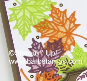 Check out my cool video using the Seasonal Layers Thilnits.  I show you tips and tricks for cutting stamps and creating the perfect bow.  Lots of fun, www.barbstamps.com #stampinup #seasonallayers #barbstamps
