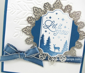 Check out my blog to see how I created an ombre look on this image from the Merry Little labels stamp set.  I also have a video showing you how to dye our ribbons any color you want!!  Chekc it out at www.barbstamps.com #stampinup #barbstamp #christmascards