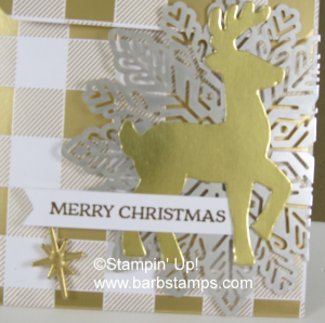 VIDEO Sliding Gift Card Holder Pouch on my blog www.barbstamps.com. Project uses items from theYear of Cheer in the Stampin' Up! Holiday Catalog.  Order anytime at www.shoppingwithbarb.com #stampinup #yearofcheer #barbstamps #diy #papercrafting