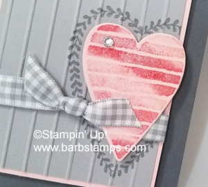 Video on my blog creating multi colored images on your stamps. www.barbstamps.com I used the Heart Happiness stamp set along with our Smoky Slate Gingham Ribbon. #stampinup #smokyslate #diy #valentine