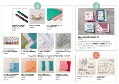 New Sale-a-bration items added, check them out and place your order in my store at www.shoppingwithbarb.com