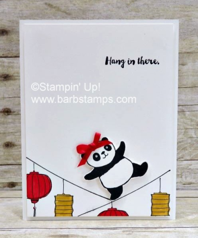 Super cute Party Panda card, deets on my blog with a printable instruction sheet. www.barbstamps.com
