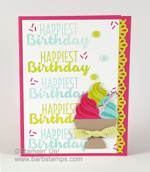 VIDEO I used the Stamparatus to space my sentiments perfectly during a Facebook Live Show.  Check out more pics and all the details along with the video on my blog. www.barbstamps.com #stamparatus #stampinup #cooltreats #barbstamps