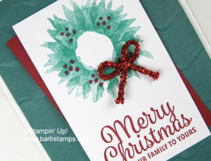 Tinsel Trim for Christmas www.barbstamps.com