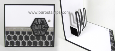 Video on my blog and YouTube for this Cool Pop Up DAD card created with the Nailed It Bundle from #stampinup card seen on www.barbstamps.com order in my store at www.shoppingwithbarb.com