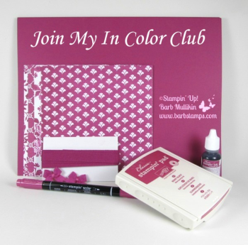 Want all the new In Color products but don't want to break the bank?  Join my In Color Club, get all the details on my blog at www.barbstamps.com