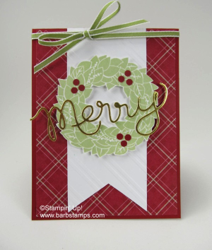 The Wondrous Wreath stamp set and the Wonderful Wreath Framelits are retiring, get them while you can www.shoppingwithbarb.com