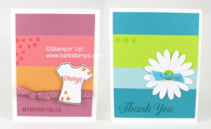 Video on my blog for the Color Blocking Technique, I share a tip on how to get your color strips perfectly aligned. I used the new Daisy Delight Bundle on one of these card along with our new Lemon Lime Twist In Color!!  www.barbstamps.com www.shoppingwithbarb.com #daisydelight #barbstamps