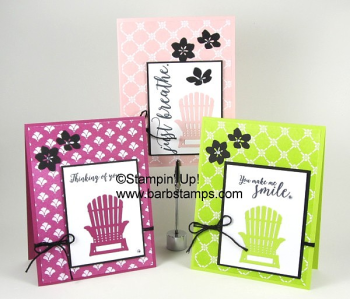 I have other color combos on my blog using this same layout www.barbstamps.com.  I love using Basic Black in my projects, it is so clean and crisp.  I used the Colorful Seasons Bundle along with the Fresh Florals Designer Series Paper. www.shoppingwithbarb.com #colorfulseasons #barbstamps