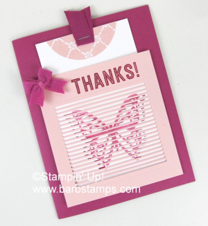 VIDEO on my blog for this super easy card. www.barbstamps.com  I used the You Move Me Bundle from Stampin' Up! to create this card with a HUGE WOW factor.  Check it out and shop for your Stampin' Up! supplies at www.shoppingwithbarb.com