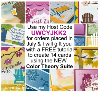 Free gift with purchase in July for any orders that use my Host Code UWCYJKK2 www.barbstamps.com