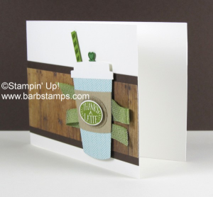This card was created with the Coffee Cafe Bundle, more details can be found on my blog www.barbstamps.com