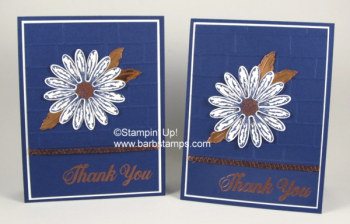 Video for this card is on my blog www.barbstamps.com Love the Daisy Delight Bundle with Navy and Copper! #barbstamps #daisydelight