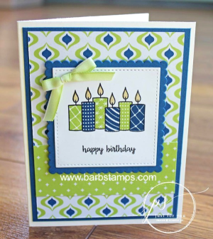 Super cute birthday using the Merry Patterns stamp set  www.barbstamps.com  #stampinup #merrypatterns