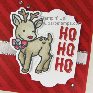 Adorable reindeer card on my blog using the STAMPIN' BLENDS MARKERS. Join my Stamin' Blends Club and get all the goods in four easy payments. Details on the card and the club are on my blog www.barbstamps.com  #stamnblends #stampinup #barbstamps #reindeer #christmas