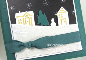 Tranquil Tide is a great color for Christmas Cards, paired with the Hometown Greetings Edgelits and we have a winner!! Details on my blog www.barbstamps.com #hometowngreetings #barbstamps #stampinup