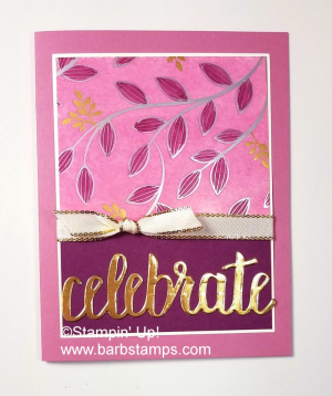 ink pad swipe technique on the Springtime Foils DSP www.barbstamps.com