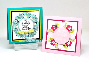 Video on  my blog showing you how to use Window Sheets and your Stamparatus to stamp images in the round to create perfect wreaths. www.barbstamps.com #stampinup #stamparatus #barbstamps #lemonlimetwist
