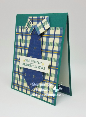 VIDEO for this dress shirt card with neck tie is on my blog at www.barbstamps.com It uses the True Gentleman Designer Series Paper and the Truly Tailored Bundle #stampinup #barbstamps #mancards #masculinecards