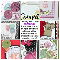 Free April Tutorial with any size order that uses Host Code A3Z3GCC4 in my store.  Shop at www.shoppingwithbarb.com.  See more great project ideas at www.barbstamps.com
