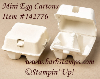 Mini Egg Cartons are back in stock, order them at www.shoppingwithbarb.com  Use our stampin spritzers and ink refills with rubbing alcohol to color the cartons, see more project ideas at www.barbstamps.com #barbstamps