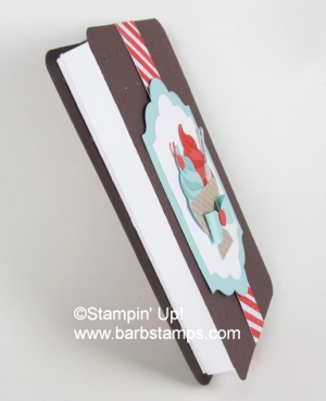 Ice Cream Sandwich Box - Video Tutorial on my blog at www.barbstamps.com #barbstamps