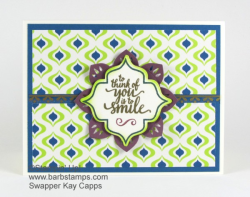 This card is from a video showing you 30 cards done with the Eastern Palace Bundles.  Video is on my blog at www.barbstamps.com #stampinup #easternpalacebundle