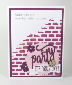 Lots of fun cards that use the Happy Birthday Gorgeous Bundle are on my blog www.barbstamps.com along with a video showing you 41 cards made with the bundle