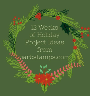 My 12 weeks of Holiday Ideas are amazing, sign up at www.barbstamps.com the projects htis year are nothing short of amazing!!
