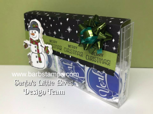 Video showing you how to create this super cute treat box from one of our Acetate Card Boxes and the Seasonal Chums Bundle from Stampin' Up! View it at www.barbstamps.com #stampinup #barbmullikin #barbstamps #seasonalchums
