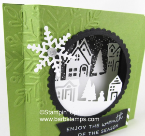 Fun Christmas Diorama card on the blog www.barbstamps.com VIDEO for you #stampinup #diorama #barbstamps
