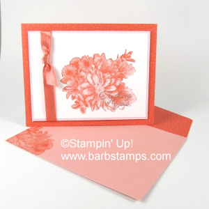 Heartfelt Blooms, Shimmer Ribbon and the Tutti-frutti Cards & Envelopes www.barbstamps.com