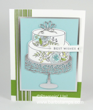 VIDEO showing 30 cards using the Cake Soiree Bundle at www.barbstamps.com #stampinup #cakesoiree