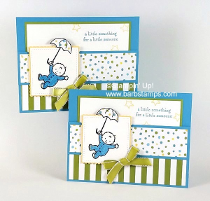 VIDEO on my blog for this adoarble pocket card that uses the Moon Baby stamp set and the Sweet Soiree Designer Series Paper.  www.barbstamps.com  #stampinup #sweetsoiree #babycard #baby
