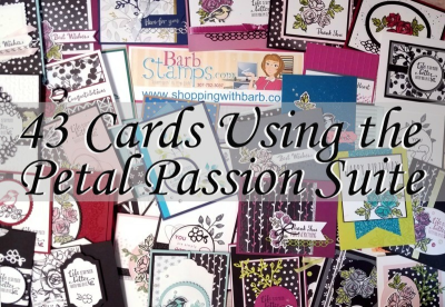 Video showing 43 cards using the Petal Passion Suite