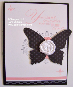no sew ribbon roses, instructions on my blog www.barbstanps.com #stampinup #techniques