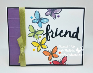 Garden in Blooom raiinbow butterflies, this stamp set was featrured in my April 11 Facebook Live Show, you canget all the details on my blog. www.barbstamps.com  #stampinup #barbstamps #gardeninbloom #2018retiringlist
