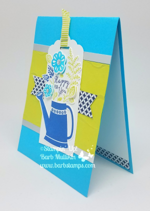 Created during my May 9th Facebook Live Show, video on my blog www.barbstamps.com Lots to Love Bopx, Garden Grown Framelits, Grown with Love, Itty Bitty Punch, Fruit Basket. #stampinup #barbstamps