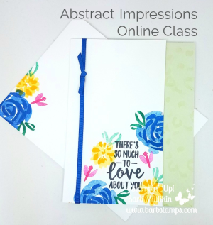 Check out my Online Class for the Abstract Impressions stamp set, Springtime Impressions Thinlits, Garden Impressions DSP and more www.barbstamps.com I have a VIDEO for this card on my blog. www.shoppingwithbarb.com #stampinup #absgtractimpressions #springtimeimpressions