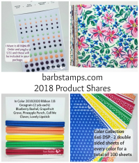 Sign up for Product Shares from the NEW Catalog.  www.barbstanps.com