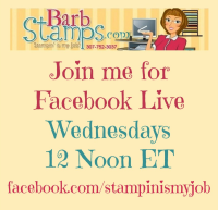 Facebook Live Show Wednesdays at Noon Eastern www.facebook.com/stampinismyjob